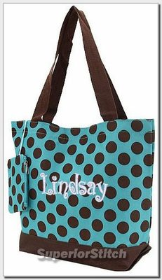 personalized monogrammed tote bag